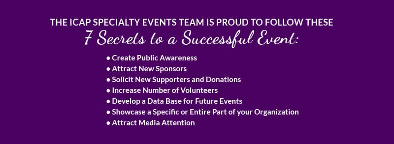 ICAP Speciality Events 7 Secrets to a successful Event